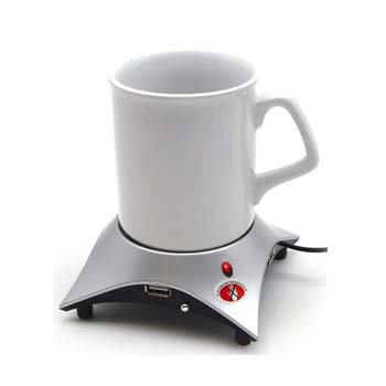 A mug and USB powered warmer - a rather unique gift