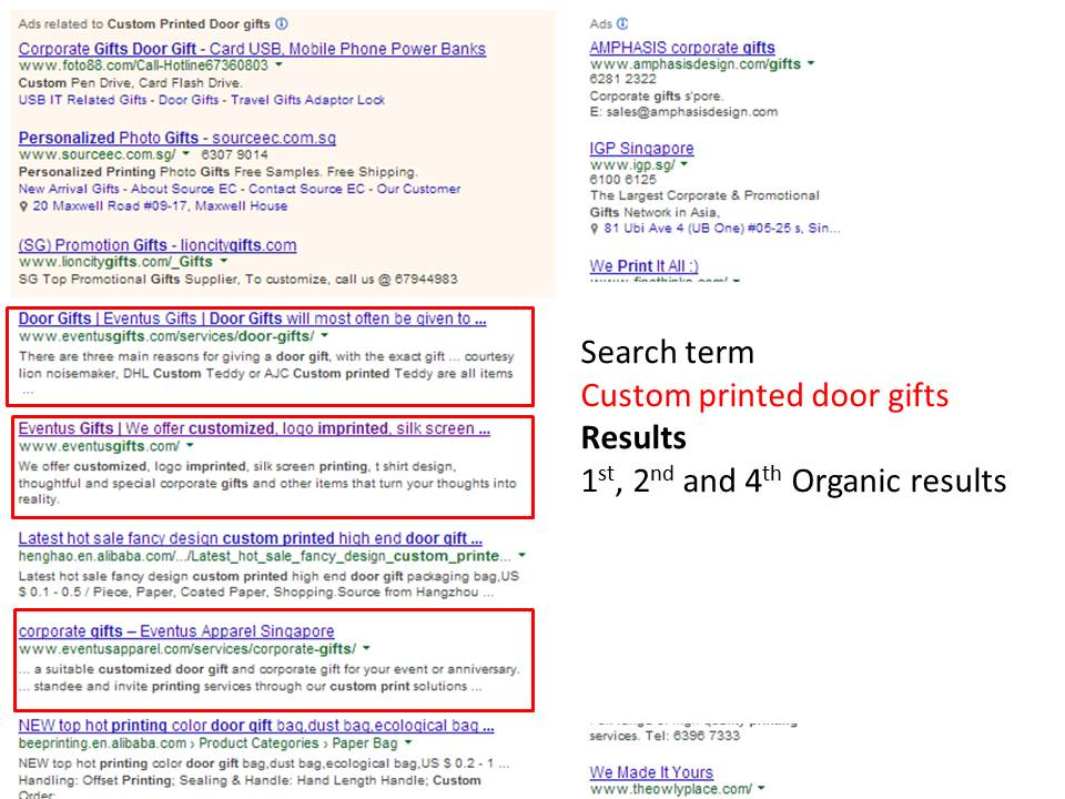 This is how well SEO works